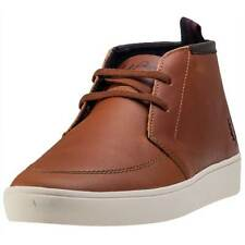 Fred Perry Shields Mid Mens Boots Tan New Shoes