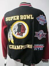 Washington Redskins Mens M and L 3 Time Superbowl Champions Wool Jacket RDK 37