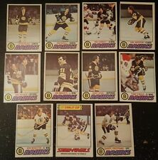1977-78 OPC BOSTON BRUINS Select from LIST NHL HOCKEY CARDS O-PEE-CHEE