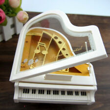 Cute Lovely Beautiful Dreamer White Piano Alice Ballet Girl Music Box Toy LOYG
