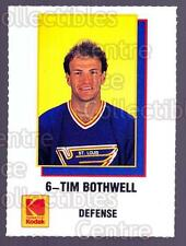1988-89 St. Louis Blues Kodak #2 Tim Bothwell
