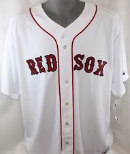 NEW Mens MAJESTIC Blank Back Boston RED SOX Home MLB Stitched Baseball Jersey