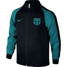 Nike FC Barcelona LU Jacket 2016 - 2017 Soccer Brand New Black / Teal Green
