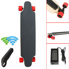 Dual-Drive Electric Scooter 4 Wheels Remote Controlled Skateboard Longboard NEW