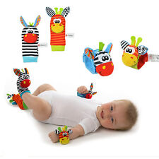 Baby Infant BB Soft Plush Rattles Handbells Hand Foot Socks Developmental Toys