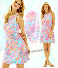 $148 Lilly Pulitzer Felicity Pink Pout Too Much Bubbly Print Fit & Flare Dress