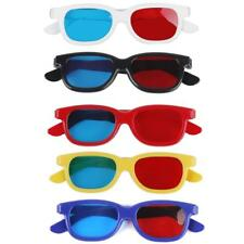 5 x Adult/Kids Plastic Red Blue 3D Glasses Anaglyph Glasses For 3D TV Movie DVD