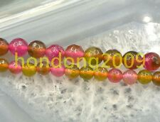 6/8mm Natural Faceted   Multicolor Tourmaline  Round Loose Beads 15""
