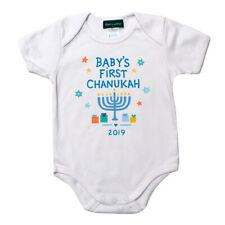 BABY'S FIRST CHANUKAH Onesie Holiday Baby Outfit Personalized Free