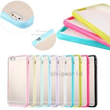 TPU+PC Colorful Candy For iPhone 6/6S Ultra Thin Frame Case Slim Scrub Cover