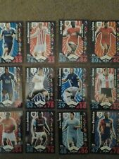 12 TOPPS MATCH ATTAX TRADING CARDS.