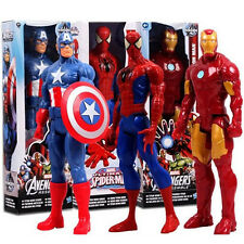 "12"" Avengers Marvel Titan Figures Spider-Man Captain Iron Man Wolverine Thor Toy"