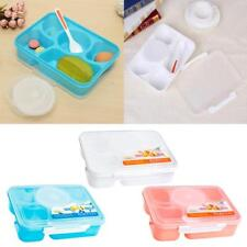 1Pc Portable Bento Microwave Lunch Box Round Picnic Food Container Storage+Spoon