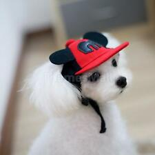 Pets Dog Baseball Hat Puppy Cap with Big Ears Adjustable Sunshade Hat Red S/M/L