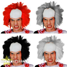 MEN'S KILLER CLOWN WIG ADULTS HALLOWEEN FANCY DRESS HORROR CIRCUS EVIL SCARY