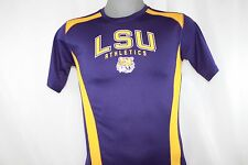 NEW Mens MAJESTIC Section 101 LSU Athletics Tigers Purple NCAA Stay Dry Shirt