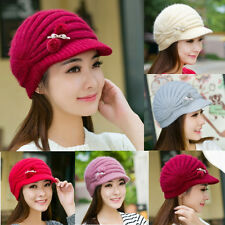 Winter Warm Women Beret Braided Baggy Beanie Crochet Knit Cap Hat New Fashion hw