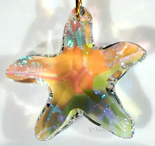SWAROVSKI Elements 6721-28mm AB Starfish Austrian Crystal Pendant