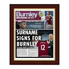 Personalised Burnley FC Official Football Club Newspaper Gift Idea for Fans