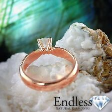 Diamond Engagement Ring 1.63 CT Round SI, G-H Solid 14k Gold Size 8 Enhanced