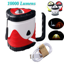 10000lm LED Rechargeable Camping Outdoor Hiking Lantern Light Tent USB Lamp New