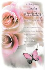 you're like a mum to me happy birthday card traditional open choose from 3 cards