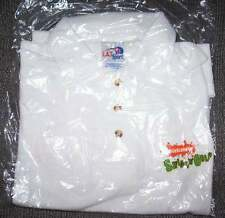 White polo style golf shirt w Spongebob Boys 16 New