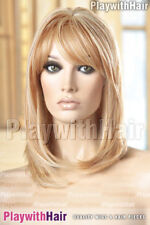 Human Hair Blend Heat Friendly Shoulder Length Bob Wig - COLOUR CHOICES!