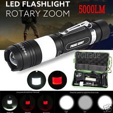 X800 5000LM Zoomable Shadowhawk CREE XML T6 LED Military Flashlight Torch Light