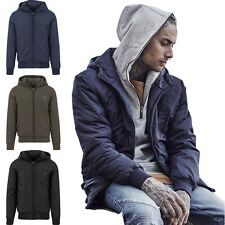 URBAN CLASSICS PADDED WINDBREAKER JACKET AUTUMN/WINTER HOOD PARKA WINTER JACKET