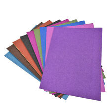 A4 Glitter Card 10 Sheets Same Colour Soft Touch DIY Craft Invitations Party SK