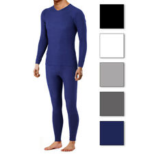2 Piece Set: Comfort Fit Men's Ultra-Soft Fleece Lined Thermal Top & Bottoms