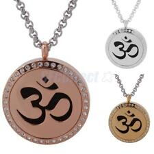 Yoga Om Round Essential Oil Diffuser Necklace Young Living Doterra Aromatherapy