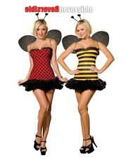 5248 Dreamgirl Halloween costumes reversible Bee,  Lady Bug  dress costume