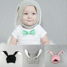 Baby Toddler Kids Soft Warm Knitted Cute Rabbit Ear Beanie Hat Cap 3 Colors Gift