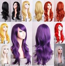 women's  long wavy cosplay wig full wigs costume party heat resistant hair wigs