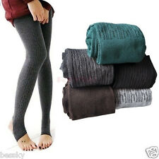 Popular Winter Warm Women Lady Cotton Skinny Slim Stretch Pants Thick Tights HOT