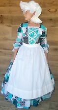 Modest Historical Costume Colonial ~Blue Patch Day Dress~ Child Size 4 to 14