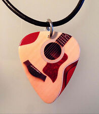 Guitar Pick Necklace Jewelry TAYLOR ACOUSTIC GUITAR