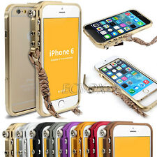 Aluminum Metal Button Knob Cleave Frame Bumper Case Cover for iPhone 6 6S Plus