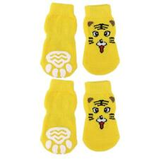 Tiger Pattern Pet Dog Puppy Cat Non-slip Socks Paws Covers Shoes Slippers S--XL