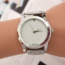 New Women Men Stainless Steel Sport Military Analog Quartz Movement Wrist Watch