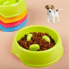 Dog Slow Feeding Bowl Bloat Preventing Food Dish for Puppy 5 Colors