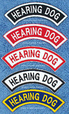 1 HEARING DOG ROCKER PATCH service RR  Danny & LuAnns Embroidery