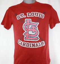 NEW Mens MAJESTIC St Louis CARDINALS Stitched Patch Style MLB Baseball T-Shirt
