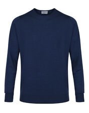 John Smedley Men's Made in England Marcus Crew Neck Merino Sweater - Indigo