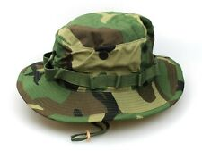 NEW GENUINE US ISSUE BOONIE HAT JUNGLE WOODLAND CAMO TYPE-III RIPSTOP - USA MADE