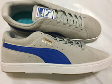 NIB MEN'S PUMA 356414 05 SUEDE S GRAY /WHITE/VIOLET RUNNING SNEAKERS SHOES $80