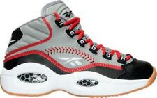 Boys' Grade School Reebok Question Mid Basketball Shoes Grey/Red V70407 GRY