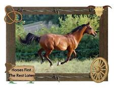Custom Made T Shirt Horses First The Rest Later Beautiful Running Horse Rope